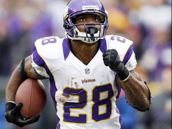 Can AP lead the Harvin-less Vikings to a victory against Chicago?